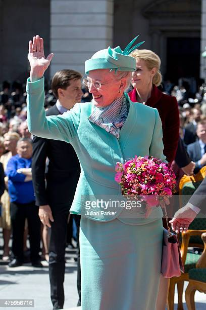 Queen Margrethe of Denmark at Christiansborg Palace on the occasion of The 100th Anniversary Of The 1915 Constitution on June 5th 2015 in Copenhagen...