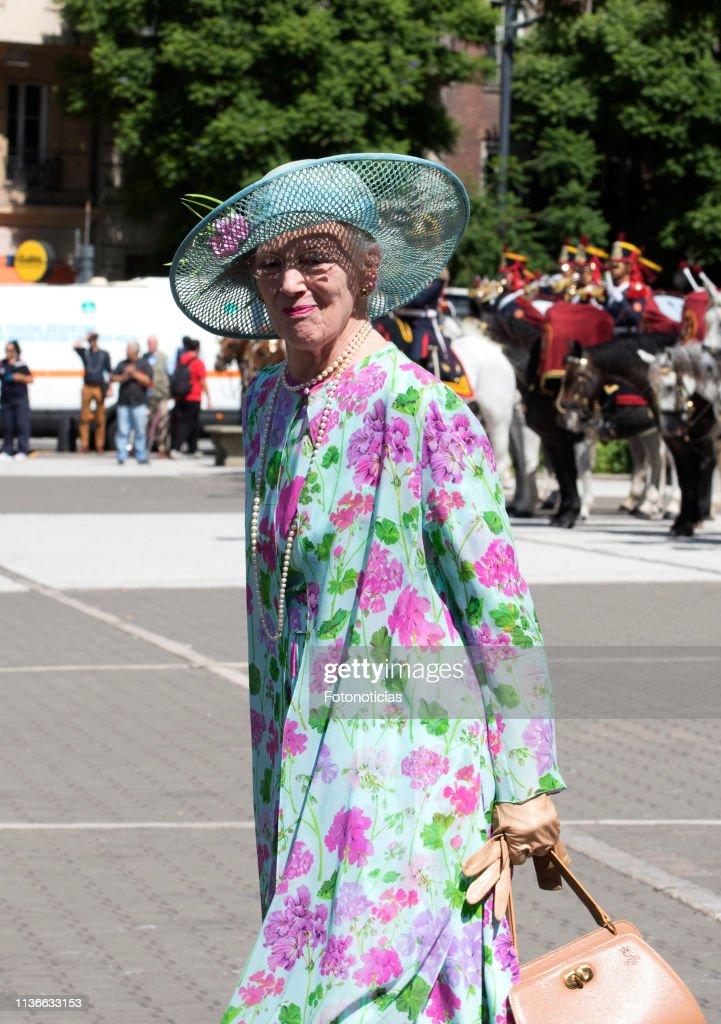 Queen Margrethe of Denmark and Crown Prince Frederik visit Argentina - Day 1 : Fotografía de noticias