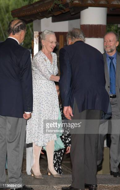 Queen Margrethe of Denmark attends a reception at the Yacht Club on March 18 2019 in Buenos Aires Argentina