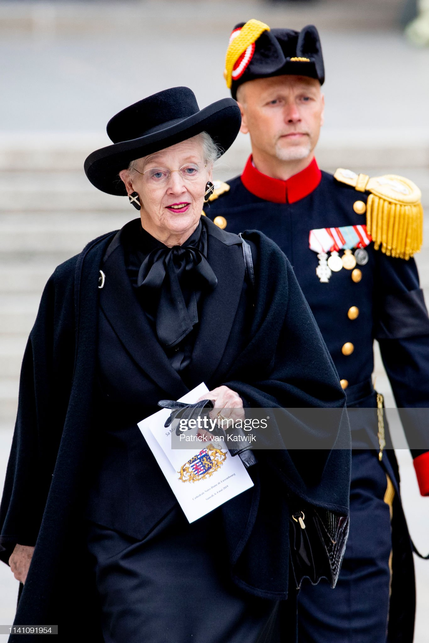 Похороны Великого Герцога Жана https://media.gettyimages.com/photos/queen-margrethe-of-denmark-attends-the-funeral-of-grand-duke-jean-on-picture-id1141091954?s=2048x2048