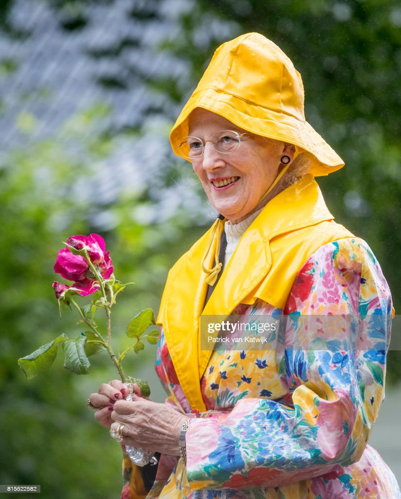 Queen Margrethe of Denmark attends the Ringsted horse ceremony at Grasten Slot during their summer vacation on July 16, 2017 in Grasten, Denmark.
