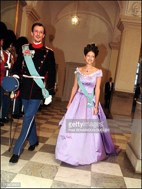 Queen Margrethe Of Denmark Celebrates 60Th Birthday Evening Gala At The Christianborg Palace In Copenhagen Denmark On April 16 2000Alexandra and...