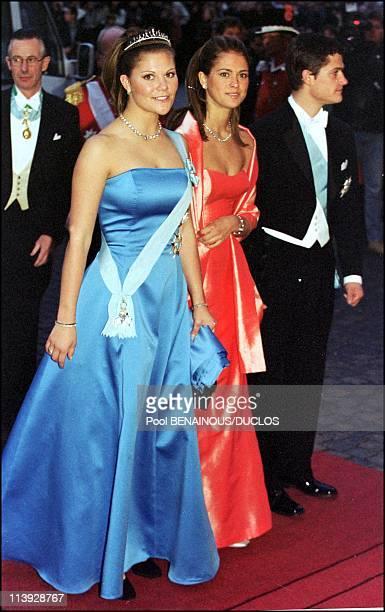 Queen Margrethe Of Denmark Celebrates 60Th Birthday In Copenhagen, Denmark On April 15, 2000-Victoria, Madeleine and Karl Philipp of Sweden.