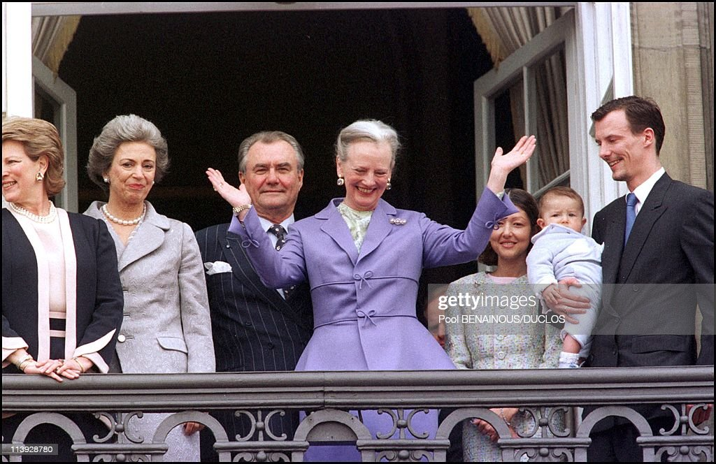 Queen Margrethe Of Denmark Celebrates 60Th Birthday In Copenhagen, Denmark On April 15, 2000- : News Photo