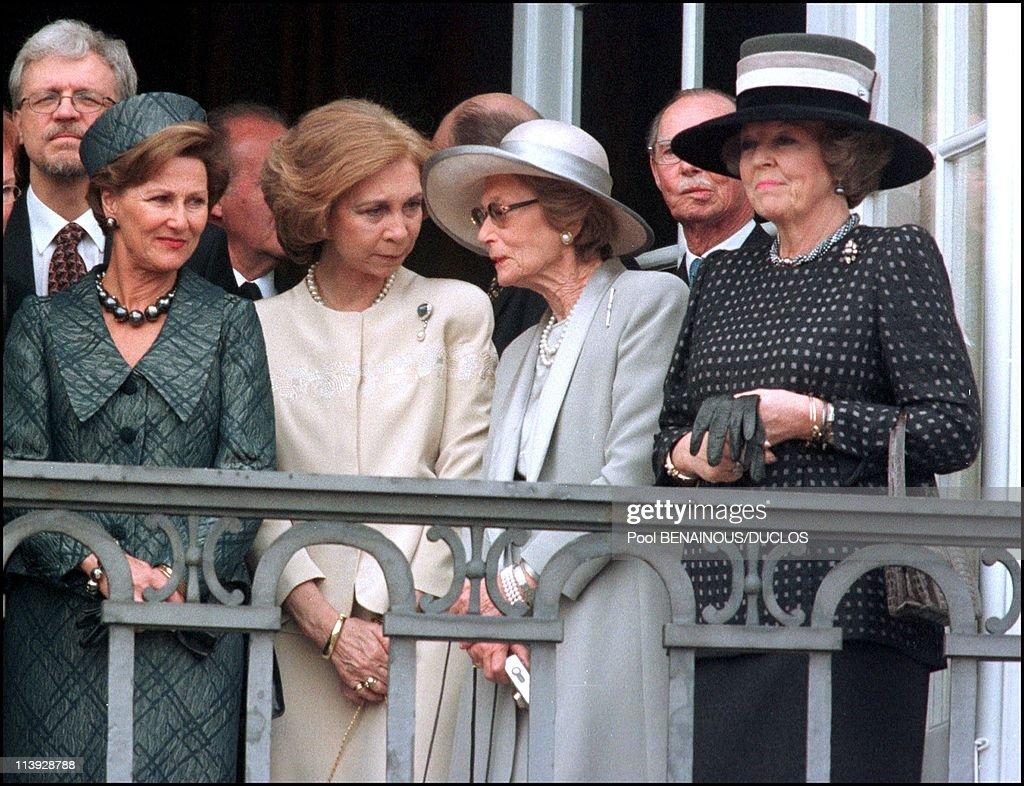 Queen Margrethe Of Denmark Celebrates 60Th Birthday In Copenhagen, Denmark On April 15, 2000- : News Photo