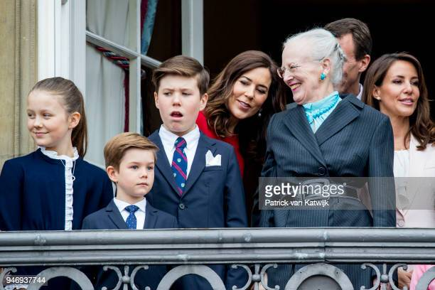 Queen Margrethe of Denmark, Crown Princess Mary of Denmark, Prince Christian of Denmark, Princess Isabella of Denmark, Prince Vincent of Denmark and...