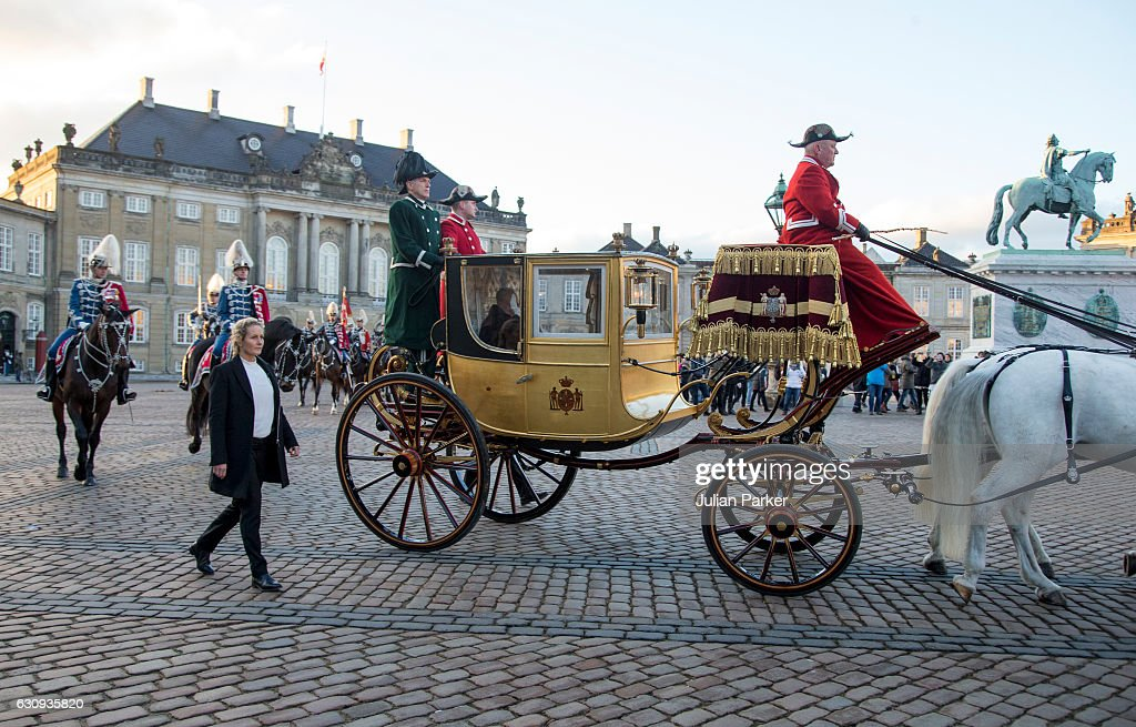 Danish Queen Margrethe holds New Year's Reception For Foreign Military Personel And Civil Defence : News Photo
