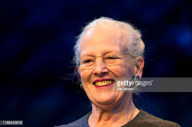 "Queen Margrethe of Denmark during a press meeting in Tivolis Concert Hall about the new ballet, ""The Snow Queen"", on November 19, 2019 in Copenhagen,..."
