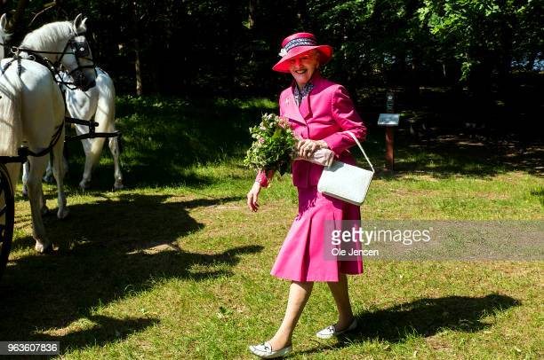 Queen Margrethe of Denmark during the inagguration for the new national park on May 29th 2018 in Esrum, Denmark. The new national park, which is...