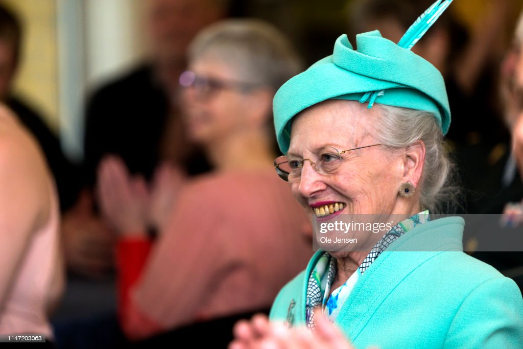 Queen Margrethe Of Denmark Visits Nyborg During Summer Cruise With The Royal Ship Dannebrog : News Photo