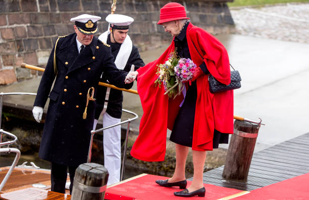 DNK: Queen Margrethe Of Denmark Embarks The Royal Ship
