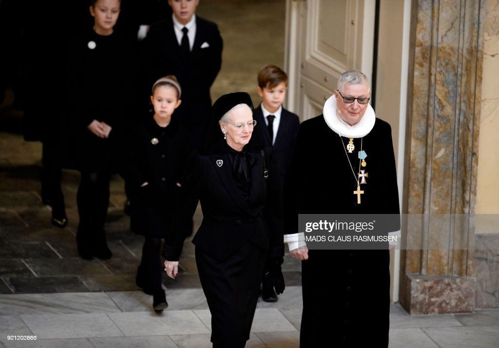 Funeral of Denmark's Prince Henrik at Christiansborg Palace Chapel