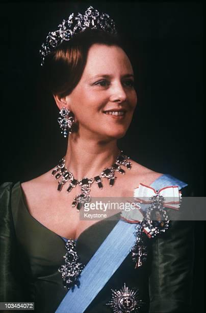 Queen Margrethe of Denmark poses on her 40th birthday on June 16 1980