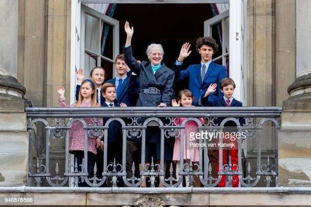 Queen Margrethe of Denmark Prince Christian of Denmark Princess Isabella of Denmark Prince Vincent of Denmark Princess Josephine Prince Nikolai of...