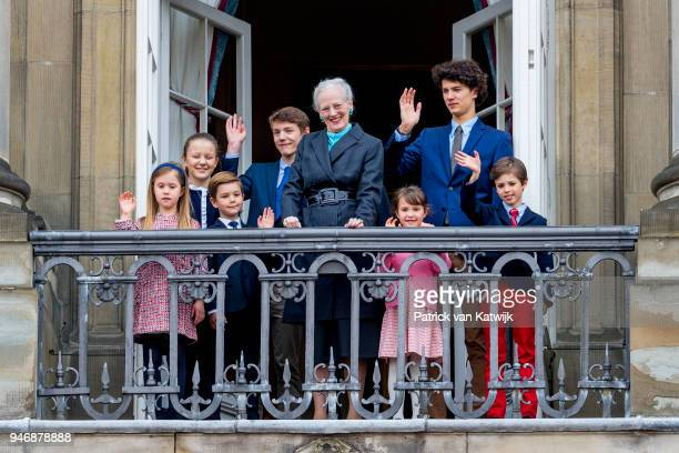 Queen Margrethe of Denmark Prince Christian of Denmark Princess Isabella of Denmark Prince Vincent of Denmark Princess Josephine Prince Nikolai of...