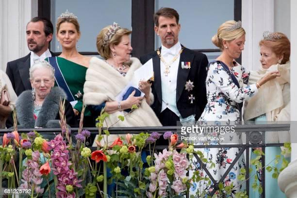 Queen Margrethe of Denmark Prince Nikolaos and Princess Tatiana Queen Annemarie Crown Prince Pavlos and Crown Princess Marie Chantal of Greece attend...