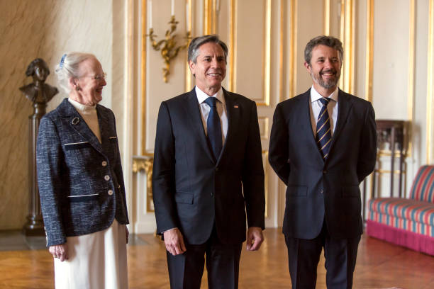 DNK: Queen Margrethe Of Denmark Receives US Secretary of State Antony Blinken