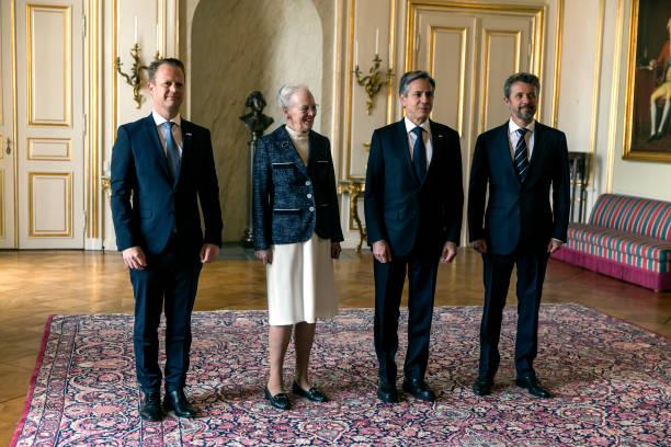 DNK: Queen Margrethe Of Denmark Receives US Secretary of State Antony Blinken