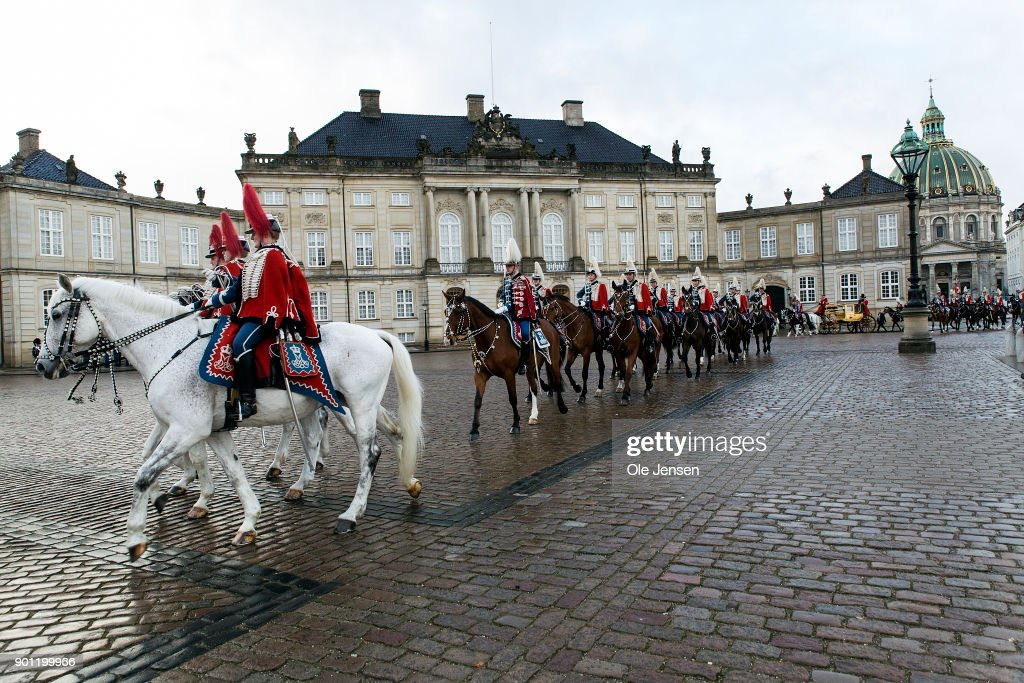 Danish Queen Margrethe Leaves Amalienborg After Her New Year Reception