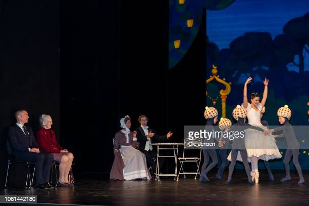 Queen Margrethe of Denmark together with Tivolis choreographer, Peter Bo Bendixen, during press presentation of the staging of Tchaikovskys The...