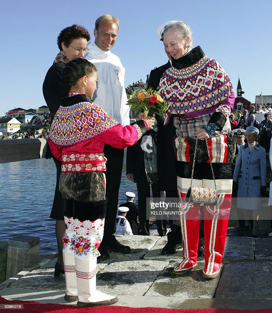 Queen Margrethe of Denmark, wearing a tr : News Photo