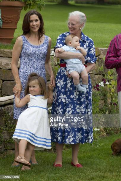 Queen Margrethe Of DenmarkCrown Princess Mary And Prince Vincent And Princess Isabella Attend A Photocall For The Danish Royal Family At Grasten...