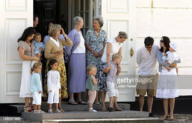 Queen Margrethe Princess Benedikte Crown Prince Frederik Crown Princess Mary Prince Christian Of Denmark Queen AnneMarie Princess Alexia Of Greece...