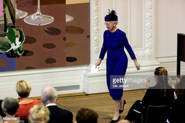 Queen Margrethe seen during the Parliament's celebration ceremony on the occasion of the Reformation's 500 years anniversary on October 31 2017 in...