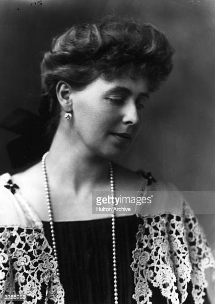 Queen Marie of Romania, , the wife of King Ferdinand of Romania, as Princess of Romania.