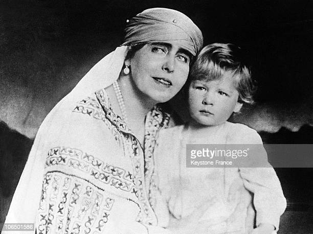 Queen Marie Princess Of Great Britain And Her Grandson Prince Michael The Future King Of Romania Around 1926