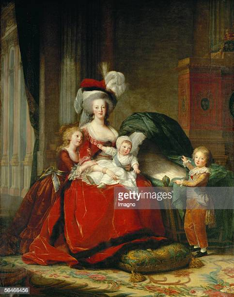 Queen MarieAntoinette and her children by ElisabethLouise VigeeLe Brun Canvas275 x 215 cm MV 4520 Musee National du Chateau Versailles France...