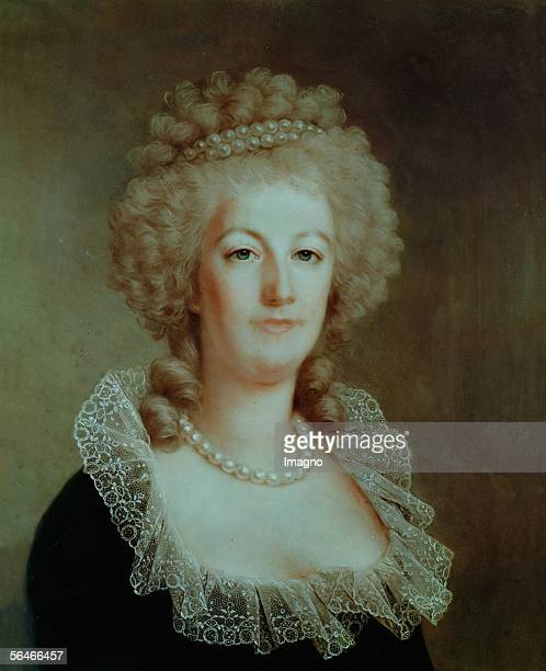 Queen MarieAntoinette Portrait by Alexandre Kucharski Private Collection France [Koenigin MarieAntoinette Portrait von Alexandre Kucharski...