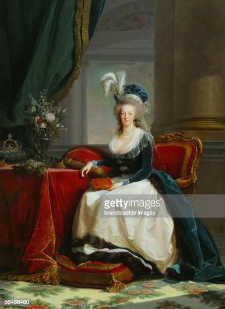 Queen MarieAntoinette1788 Portrait by ElisabethLouise VigeeLe Brun Musee National du Chateau Versailles France [KoeniginMarieAntoinette1788 Portrait...