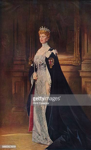 Queen Mary', 1910 . After the painting by Sir William Llewellyn, P.R.A. From Modern Masterpieces Part 20. .