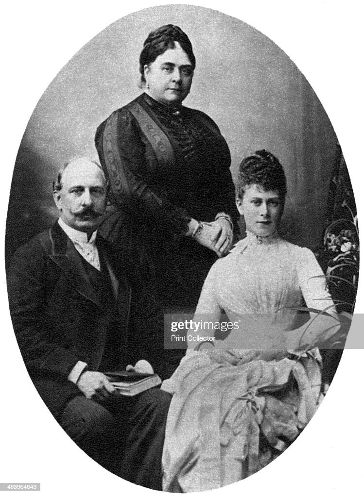 Queen Mary and her parents, the Duke and Duchess of Teck, c1890-1900, (1935). : News Photo