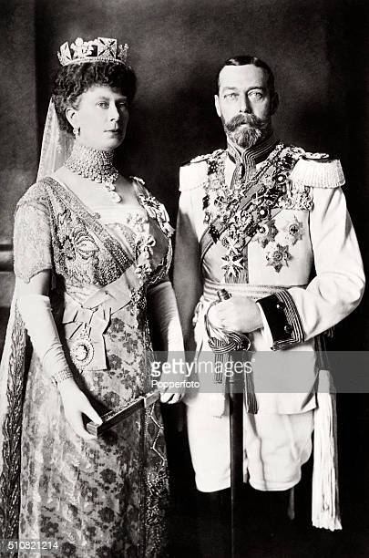Queen Mary and King George V circa 1920