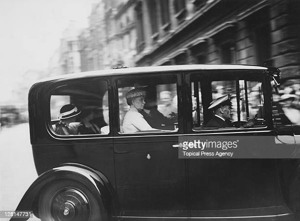 Queen Mary arrives at the Royal Academy to view the Summer Exhibition, London, 10th June 1937.