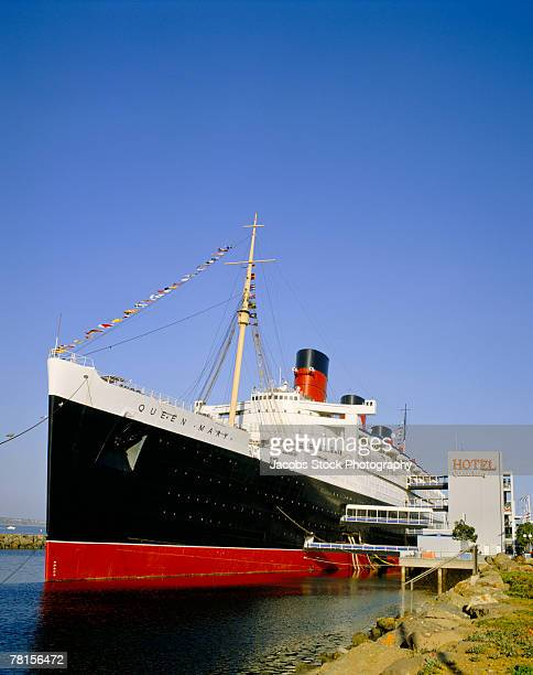 queen mary at long beach in california - long beach california stock photos and pictures
