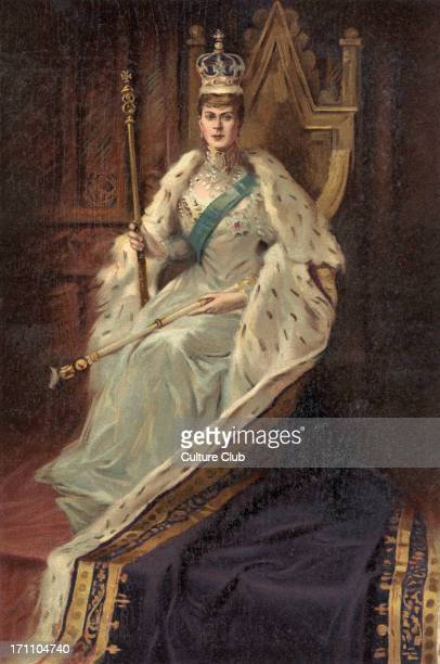 Queen Mary, consort Of King George V in the year of her coronation 1910. Wife of King George V, who reigned from 6 May 1910.