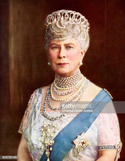 Queen Mary consort of King George V Mary of Teck Victoria Mary Augusta Louise Olga Pauline Claudine Agnes 1867 to 1953