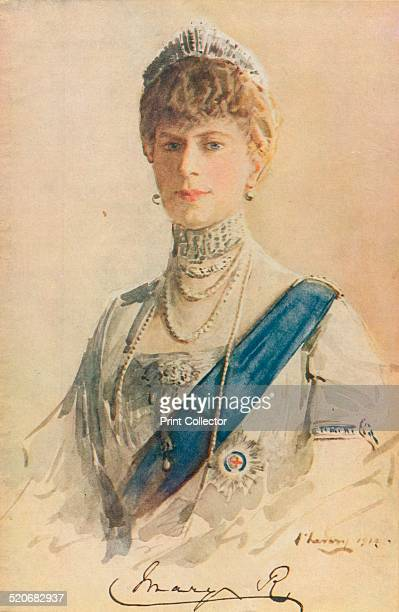 Queen Mary consort of King George V of the United Kingdom A study/detail from Sir John Lavery's 1913 work titled The Royal Family at Buckingham Palace