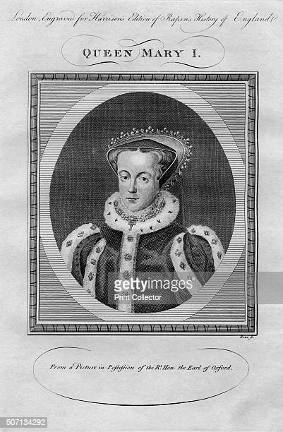 Queen Mary I' From Harrison's Edition of Rapin's History of England by Paul Rapin de Thoyras [John Harrison London ] Artist Anon