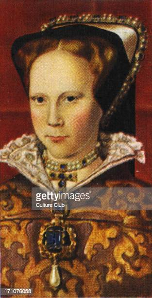 Queen Mary I portrait The daughter of Catherine of Aragon and Henry VIII A fervent Catholic she suffered deeply in her youth She married Philip of...