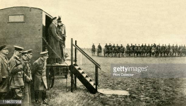 Queen Mary of Teck visits soldiers at Aldershot in Hampshire First World War 'The Queen doing Duty for the King after His Majesty's Accident a royal...
