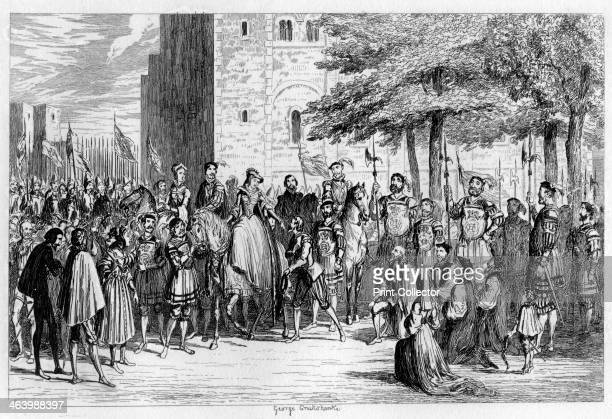 Queen Mary receiving the prisoners on the Tower Green 1553 A grandniece of Henry VIII Lady Jane Grey was proclaimed queen on Edward VI's death in...