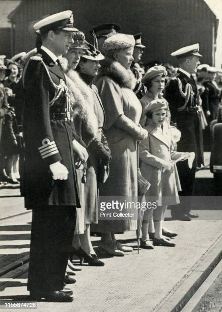 Queen Mary sets off to visit Canada 'Members of the Royal Family bid farewell to our King and Queen as they start off on their 1939 Canadian tour'...