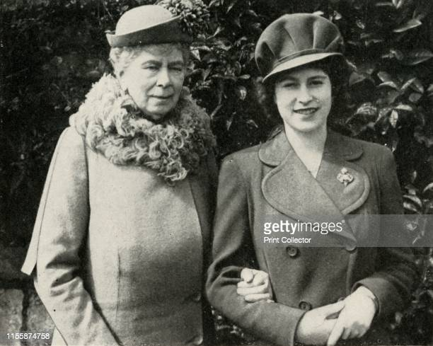Queen Mary with Princess Elizabeth April 1944 'Queen Mary with Princess Elizabeth at the party held to celebrate the eighteenth birthday of the...