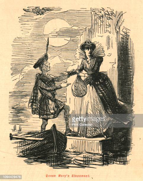 Queen Mary's Elopement', 1897. Mary leaves under cover of darkness, and is helped into a boat by a tartan-clad man, possibly Lord Bothwell. . From...