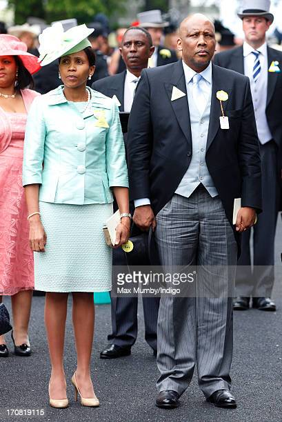 Queen Masenate Mohato Seeiso of Lesotho and King Letsie III of Lesotho attend Day 1 of Royal Ascot at Ascot Racecourse on June 18, 2013 in Ascot,...