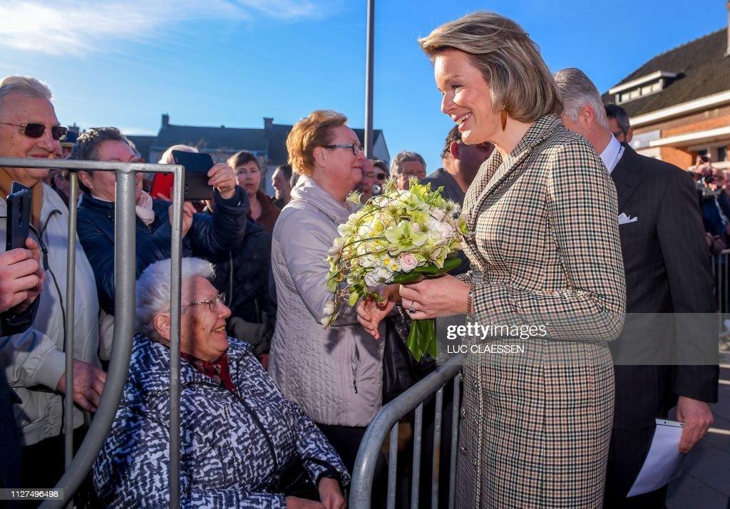 BELGIUM-ROYALS-SOCIAL : News Photo
